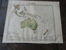 1868 ORIGINAL Map of Australia & East Indies