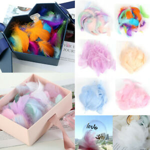 100 Small Fluffy Swan Feathers 4-8cm Card Making Crafts & Bubble Balloons Dercor