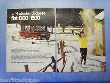 QUATTROR964-PUBBLICITA'/ADVERTISING-1964- FIAT  1300/1500 -2 fogli