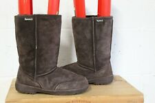 BROWN SUEDE MID CALF BOOTS SIZE 8 / 41 BY BEARPAW GOOD USED CONDITION