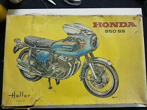 Vintage Heller Honda 950SS Motorcycle Model Kit **Part-Built** 1/8