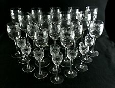 Rare Antique BACCARAT Flawless Crystal *Palmettes* 24 x Wine / Sherry Goblet