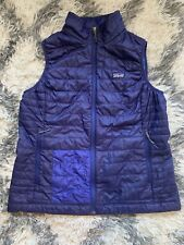 Patagonia Nano Puff Vest Classic Navy Women's X-Large Packable Repaired
