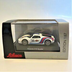 Porsche 918 Spyder, Martini Racing Livery, Schuco 1:87 Edition Diecast 452628200