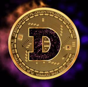 DOGE COIN Spectrum - Digital NFT Crypto Coin - Mint #34/64 RARE!