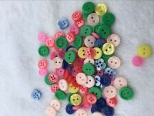 100 x Small Mixed Buttons Bulk/Job Lot/Scrapbooking/Card Making/Crafting