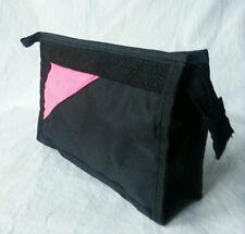 Kosmetiktasche, schwarz/pink NEU