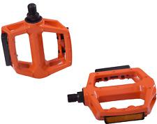 "Oxford Darxide Well Go 1/2"" BMX Bike DX Flat Platform Pedals Alloy Reflectors"