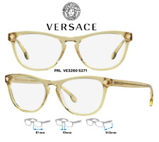 Versace VE3260 5271 Eyeglass Frames Transparent Yellow 100% New/Authentic 51mm