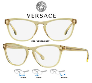 Versace VE3260 5271 Eyeglass Frames Transparent Yellow 100% New/Authentic 51mm