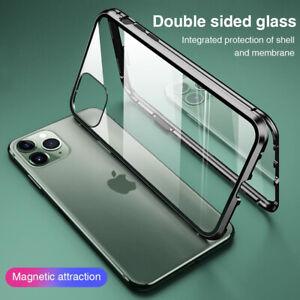 Adsorption magnétique 360 coque Pour iPhone 11 Pro XS Max XR X étui verre trempé