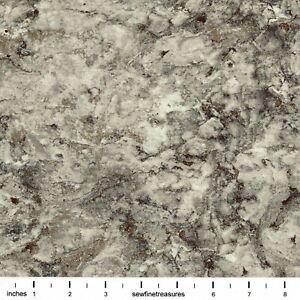 Stonehenge SLATE 39303-96 Gray Beige Marbled Fabric By FQ - 1/4 YD