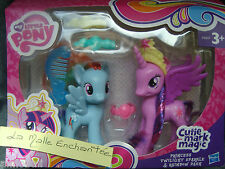 COFFRET 2 PETIT PONEY CUTIE MARK MAGIC princess twilight sparkle + rainbow dash