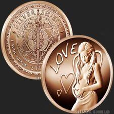 New listing Silver Shield | Love 2019 | 1 oz Avdp .999 Pure Copper Round