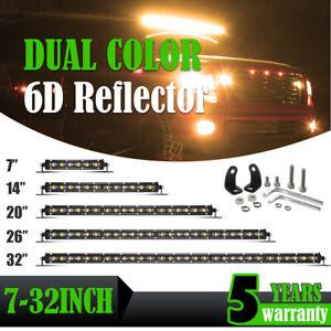 8/14/20/26/32inch Offroad Led Light Bar Spot Flood Combo Strobe SUV ATV Fog Lamp