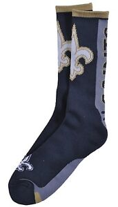 New Orleans Saints   Key Limited Crew Socks Large LG size 10-13 Great Gift