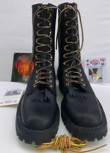 WHITE'S BOOTS Original SMOKEJUMPER Mens 12.5 B. ALL Leather Wildfire Boots NEW
