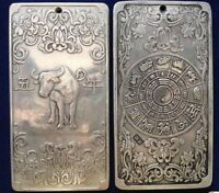 Collection of Chinese handmade Tibetan silver hairpins\u2014004