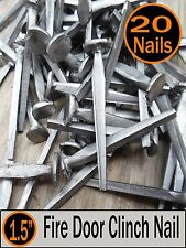"(20) 1.5"" - FIRE DOOR CLINCH NAIL  - Vintage Antique - 4d"