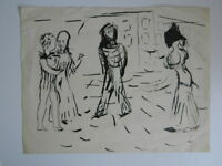 Lucien COUTAUD dessin Esquisse Encre Chine pinceau tampon FOND COUTAUD 1904-1977