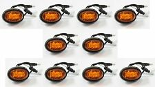 "Set of 10 3/4"" Bullet Amber Round LED Light Clearance Side Marker Truck Trailer"