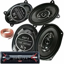 "Sony CDX-GT320MP + Pair Of K7 K-46.3S 4x6"" 180W + K69.5 6""x9"" 700W 5-WAY +Wire"