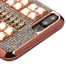 ROSE GOLD Square Rhinestones SKIN COVER CASE FOR  for Apple iPhone 7 PLUS + NEW