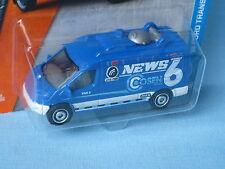 Matchbox Ford Transit TV News Satallite Blue Toy Model Car 75mm in BP
