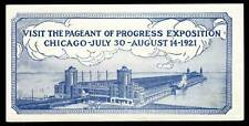 """Usa Poster Stamp - 1921 Chicago """"Pageant of Progress"""" Exposition"""