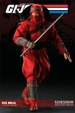 "1/6 G.I. Joe Cobra Red Ninja 12"" Figure Sideshow Collectibles Used"