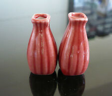 2  Tiny Red  Vase Jar Dolls House Miniature Supply Deco Home
