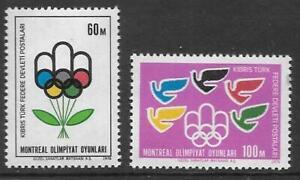 CYPRUS-TURKISH SG34/5 1976 OLYMPICS MNH