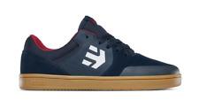 Etnies Kids Marana Navy Gum White Youth Suede Skateboard Shoes