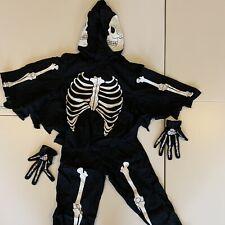 Gymboree Halloween Skeleton Costume black size XS age 3 - 4 years old