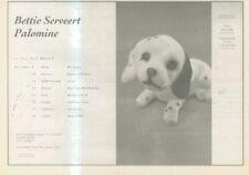 """(ANEW11) ADVERT 7X11"""" BETTIE SERVEERT : PALOMINE ALBUM & TOUR DATES"""