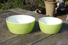 Keramik-Schale,limettengrün,für Floristik und Haushalt,2er Set,(19+23cm)