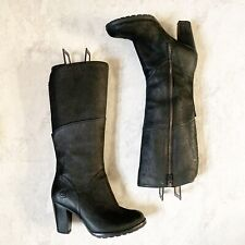 Timberland Womens Boots 8.5 Black Earthkeepers Stratham Heights Waterproof Tall