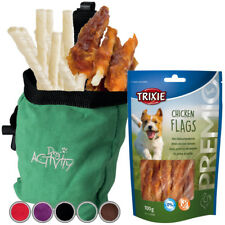 Trixie Perro Snack bolsa gamuza Look incl trata Premio pollo banderas, masticar Palos