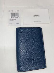 Coach's BIFLD CARD CS CRGN F86763 Dark Denim 231904JAX DDE