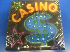Casino Night Card Suits Jackpot Dice Poker Theme Party Paper Luncheon Napkins