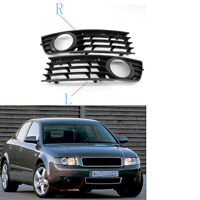 2X/Set Front Lower Bumper Fog Light Grille for Audi A4 B6 2001-2005 Mesh Grill