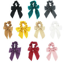 Bowknot Ribbon Elastics Hair Bands Scrunchy Hair Rope Ties Hair Bow Ponytail