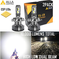 Alla Lighting H4 LED Short Headlight High Low Beam|DRL Bulb Replacement White 2x