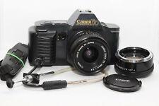 CANON T70 Reflex Analogica + OBIETTIVO FD 28mm + Duplicatore + Cavo T3 e Flex