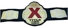 NWA TNA X Title Championship Wrestling Leather Belt Metal Plated Replica Adults