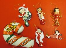 BETTY BOOP CHRISTMAS ORNAMENTS DICE CAR MOTORCYCLE PLUSH FLAMES NEW YORK GLAM