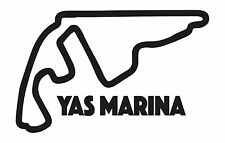 YAS MARINA RACE CIRCUIT. Car vinyl sticker F1 Abu Dhabi Grand Prix Formula One