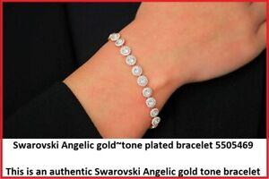 Authentic Swarovski Angelic gold-tone plated bracelet 5505469 NWT