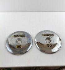 Ivanko Dumbbell End Caps Plates 1.5 lbs - Set 2 Super Chrome Rare Strongman