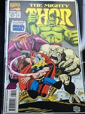 MARVEL COMICS THE MIGHTY THOR 474 monsters of mogul avengers spider-man cards